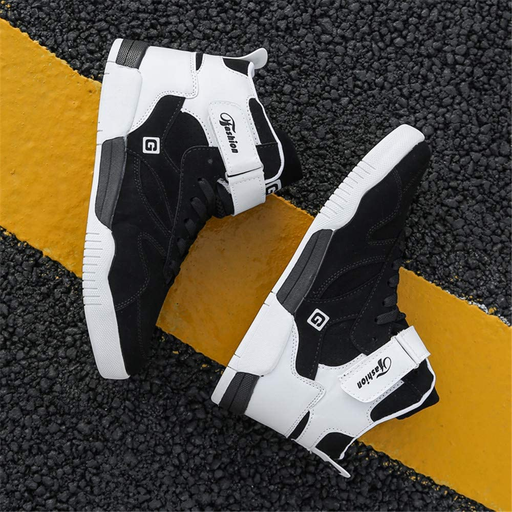 FZUU Mens High-Top Trainer Fashion Sneakers Sports Casual Walking Running Trainers