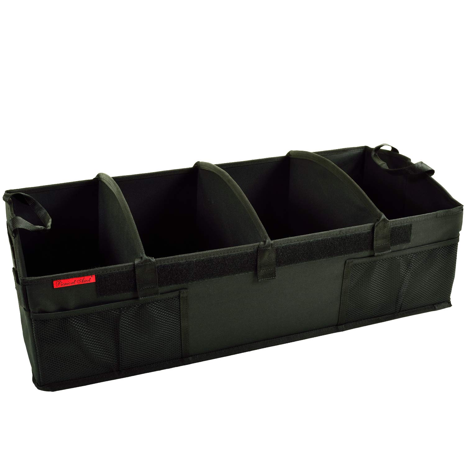 Picnic at Ascot Heavy Duty Rigid Base Trunk Organizer -70 LB Capacity - Adjustable Dividers - 30'' wide x 15'' deep - Designed & Quality Approved in the USA by Picnic at Ascot