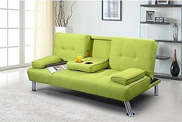 Dream Warehouse New York Sofa Bed Fabric Green Amazon Co Uk