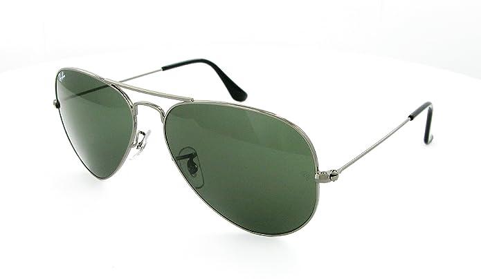 2c9e9ab8c0e Amazon.com  Ray-Ban RB3025 Aviator Sunglasses (Gunmetal W0879