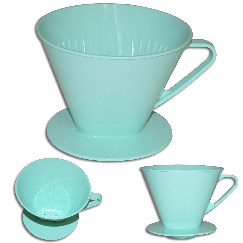 (735) Kaffeefilter Kaffeeaufsatz Filter für bis zu 4 Tassen mint Kunststoff NoName