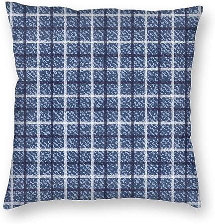 Cushions Plaid Square Pillow Case Sofa