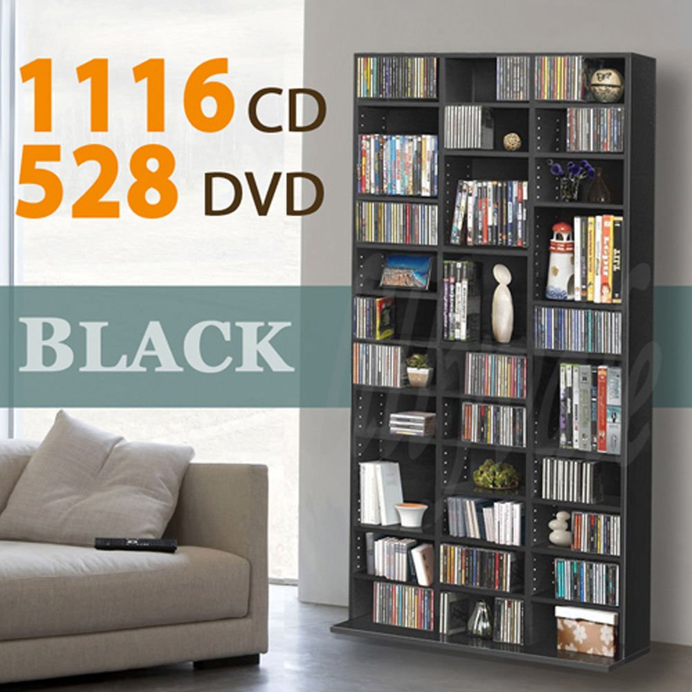 Lovely Amazon.com: 1116 CD/528 DVD Storage Shelf Rack Unit Adjustable Book Bluray  Video Games(Black) By Lillyvale: Kitchen U0026 Dining