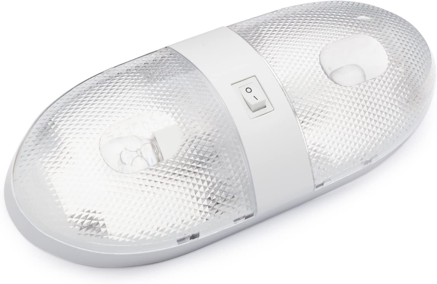 Motorhomes Campers Lumitronics Double RV Ceiling Dome Light with On//Off Switch and Removable Lenses Perfect Interior Replacement 12V Lighting for RVs 5th Wheels Trailers.