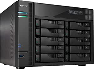 Asustor AS6210T | Network Attached Storage | 1.6GHz Quad-Core, 4GB RAM | Personal Private Cloud | Home or Business Data Media Server (10 Bay Diskless NAS)