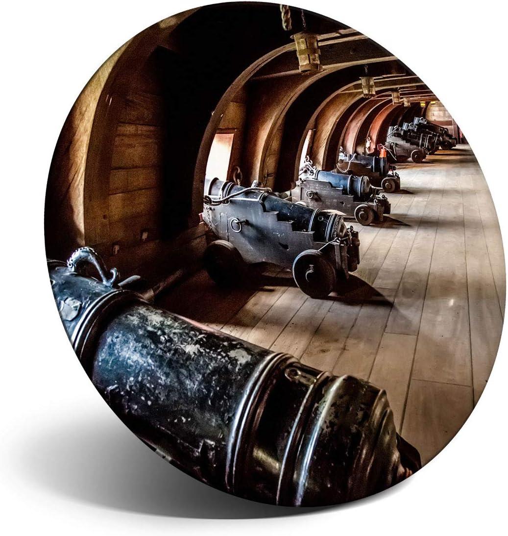 Destination Vinyl Ltd Impresionante imán para refrigerador, nevera – Vintage pirata barco galeón pistolas para oficina, gabinete y pizarra blanca, pegatinas magnéticas, 16158