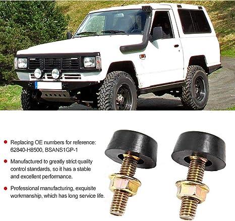 Yctze Car Aluminum Alloy Bump Stop,Bonnet Adjuster Bump Stop Fit for Patrol GQ for BSANS1GP-1 62840-H8500