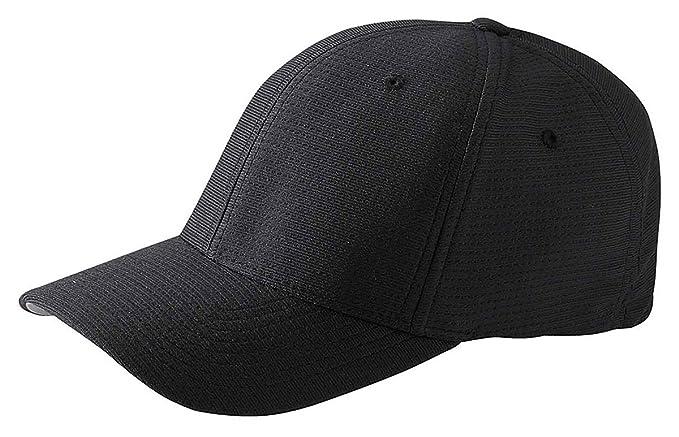 16efa793b Amazon.com: Yupoong Flexfit Cool & Dry Tricot Cap, Black, OS: Clothing