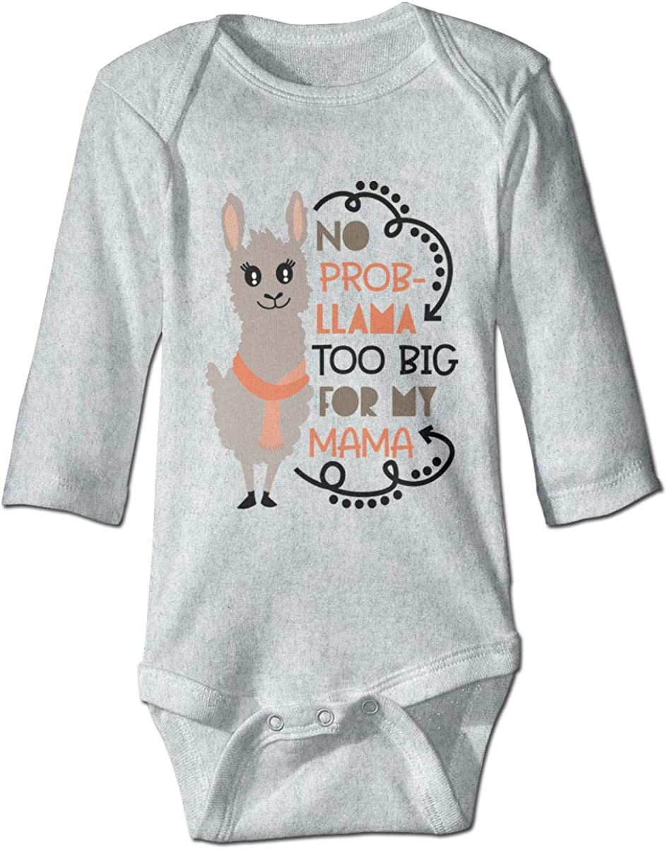 Marsherun Infant Babys Girl Boy No Prob-Llama Long Sleeve Bodysuit One-Piece Playsuits