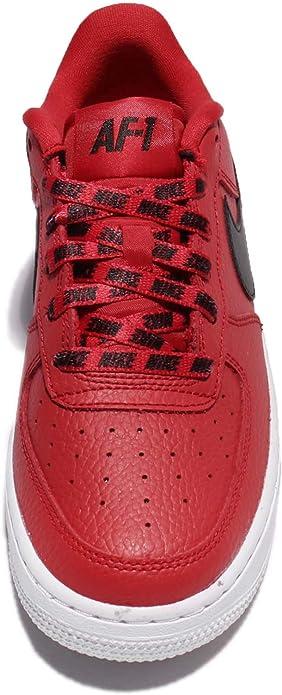 Nike Air Force 1 Lv8 GS University Red Black White 820438