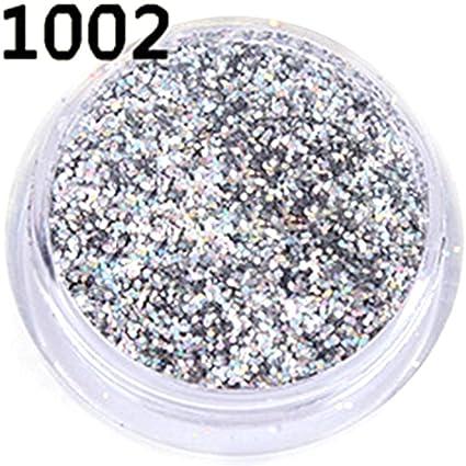 Set de 15 uñas postizas con purpurina acrílica fina para decoración de uñas, decoración con
