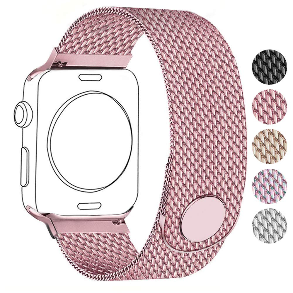 Amazon.com: Compatible for Apple Watch Band 38mm 40mm 42mm ...