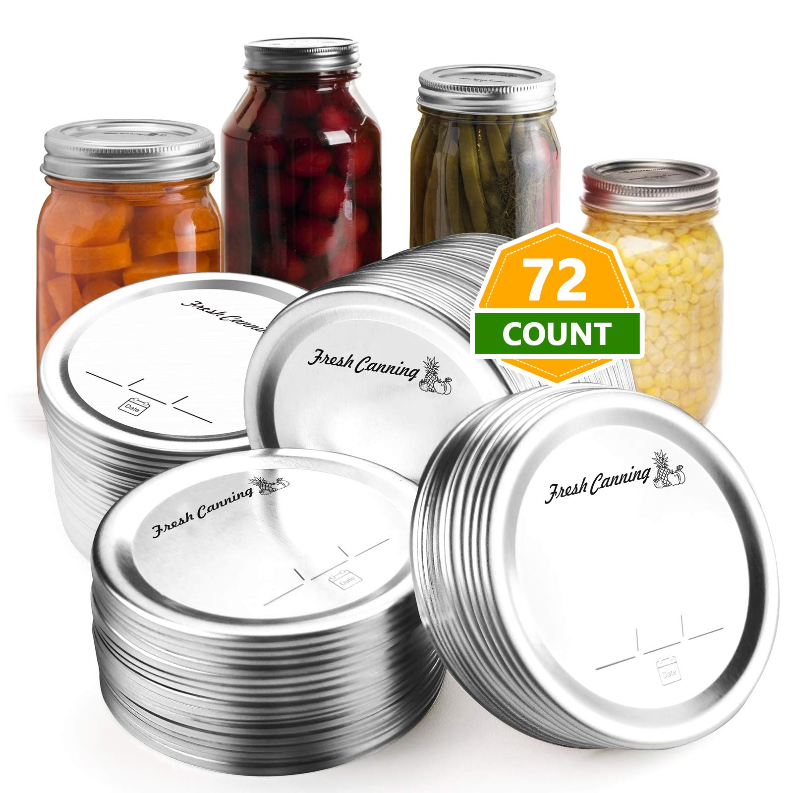 72 Count Canning Lids Regular Mouth – Mason Canning Jar Lids for