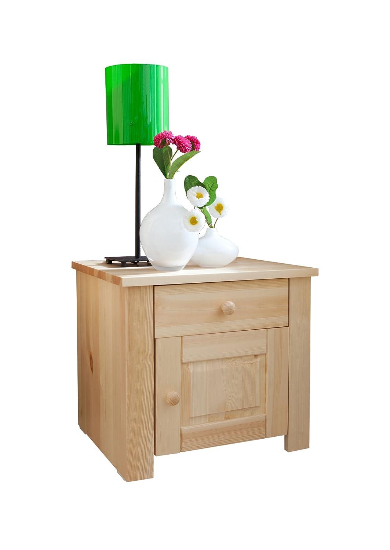 Ticaa Nachtkommode Pirin Kiefer mit Schublade Natur