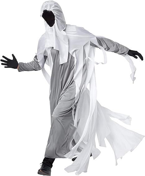 dressforfun 900576 - Disfraz de Hombre Fantasma, Traje Blanco con ...