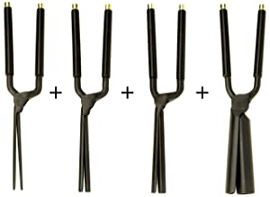 Kentucky Maid Classic Four Pack Set of Marcel Curling Irons for Ultra Smooth Curling