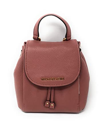 aab670c31ba4 Amazon.com  Michael Kors Riley Small Flap Drawstring Crossbody Pebbled  Leather Rose  Dazigno