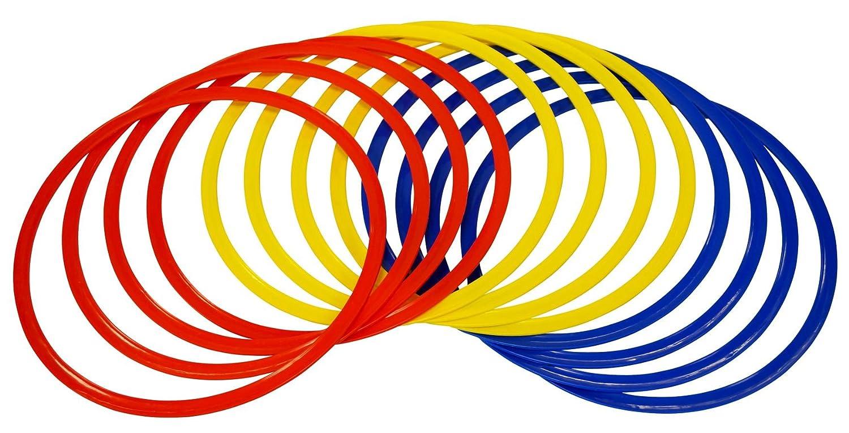 Precision Training Anillas de entrenamiento, color rojo, amarillo y azul TR403