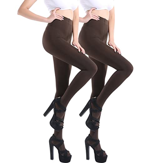 7808d10be Image Unavailable. Image not available for. Color  Women s 100 Denier Tights  2Pair Semi Opaque ...