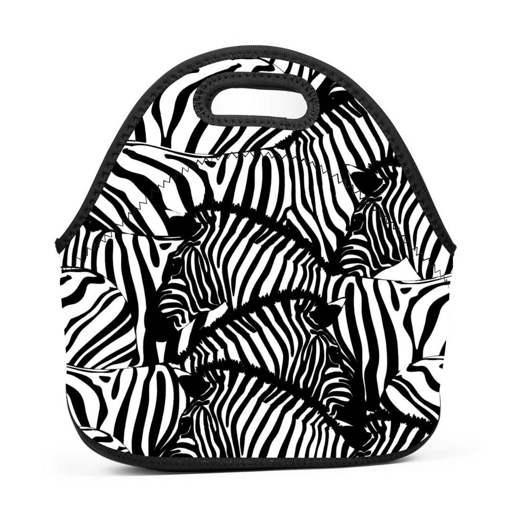 2f54395f7e2e Amazon.com: REALO Zebra Seamless Pattern Dual-use Lunch Box ...