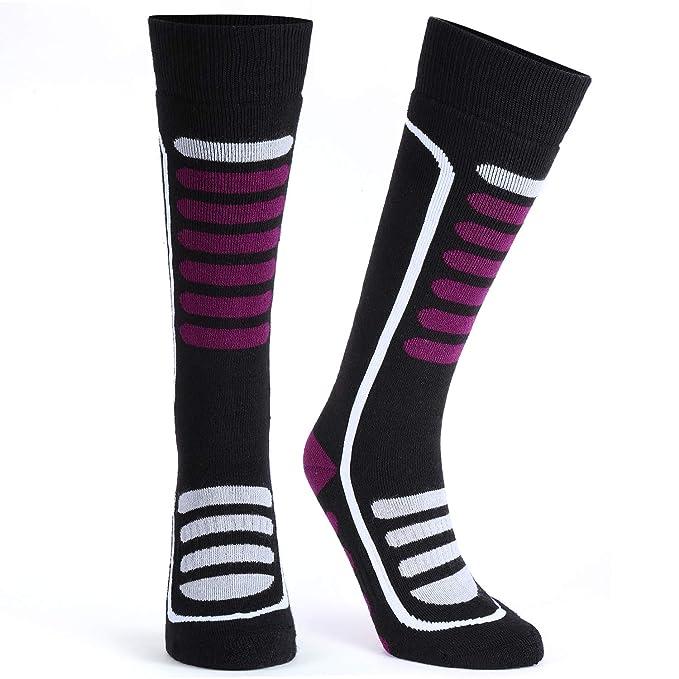 16486246ad Merino Wool Ski Socks, Extremely Thermal Winter Socks, Antibacterial  Odor-resistant, High Performance Warm Skiing Socks for Skiing, Hiking,  Cycling, ...