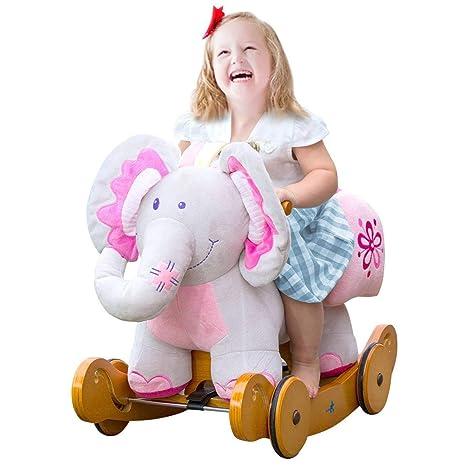 Cavallo A Dondolo In Peluche.Labebe Dondolo Bambini Cavallo A Dondolo Legno Gioco Cavalcabile