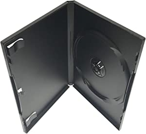 KEYIN Standard Black Single DVD Case - 10 Pack