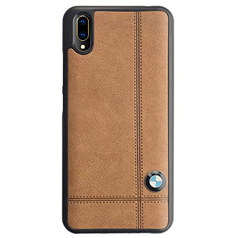 cheap for discount 54e2b bf4b0 CareFone Leather Back Cover for Vivo V11 Pro (Brown, Silicon, Leather)