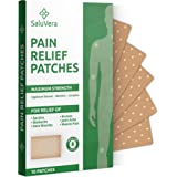 Pain Relief Patches – Large Patch Maximum Strength - Pain Relieving Patch - Back Patches for Pain - Muscle and Joint Heat Pat