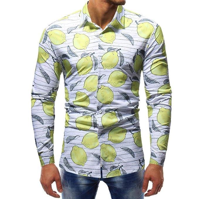YunYoud Herrenmode Printed Bluse Casual Langarm Slim Shirts Tops türkis Hemd  Herren Slim Fit Kurzarm Schwarz 0f1dfe72c1