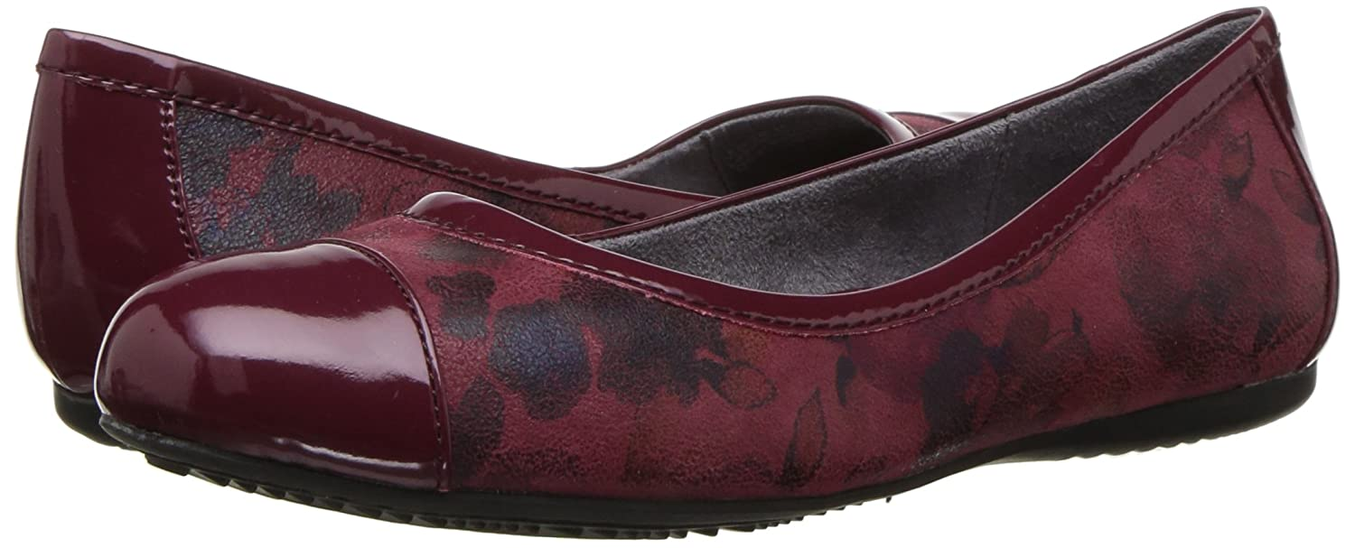 SoftWalk Women's Napa Ballet Flat B01N0T9DAE 7 N US|Dark Red