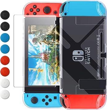 FYOUNG Funda Protectora Acoplable para Nintendo Switch, Estuche Protector para Nintendo Switch y Joy-con con Tapas de Joystick: Amazon.es: Electrónica