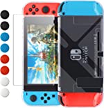 Dockable Case Compatible with Nintendo Switch, FYOUNG Protective Accessories Cover Case