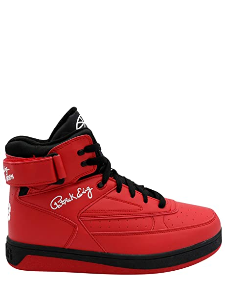 Patrick Ewing Mens Orion Red Black Synthetic Leather Trainers 46 EU: Amazon.es: Zapatos y complementos