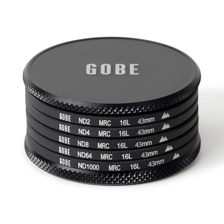 ND4 2Peak ND8 Gobe 46mm ND2 ND64 ND1000 Lens Filter Kit