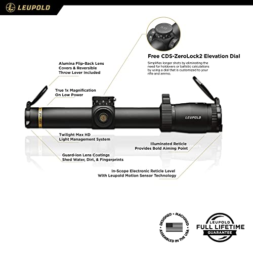 Leupold VX-6HD 1-6x24mm Riflescope Twilight Max HD Light