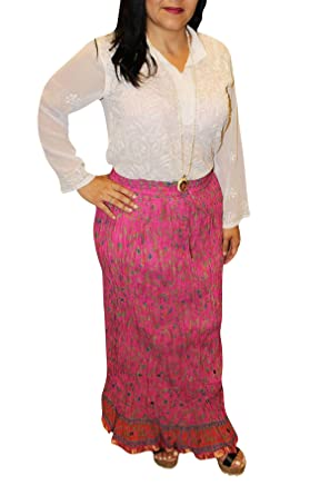 401e0ebea6 Image Unavailable. Image not available for. Colour: Mogul Interior Women's  Maxi Long Skirt Printed Medieval Cotton Blend Skirts ...