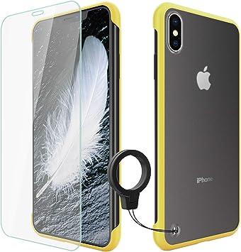 UNMAX Funda iPhone XS MAX [3 en 1] Ultra Slim [Ultra Hybrid] + Protectores de Pantalla in Cristal Templado + Soporte [Anti-Rasguño] Antideslizante [ Anti-Golpes] Caso: Amazon.es: Electrónica