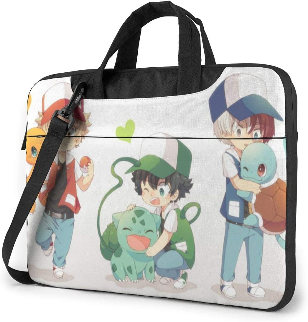 Bulbasaur and Squirtle Charmander Laptop Sleeve Bag Case MacBook Air Pro Notebook Sleeve Case Portable Briefcase Tote Cases