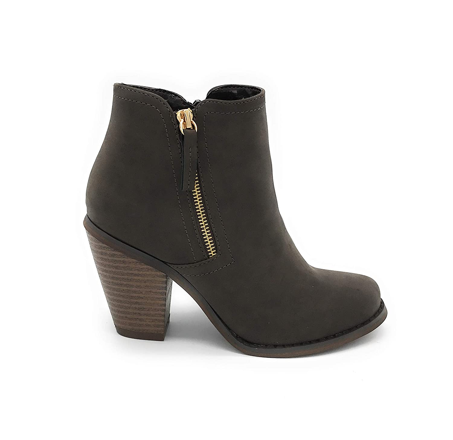 08brown bluee Berry EASY21 Women Fashion Ankle Boots Casual Short Bootie shoes