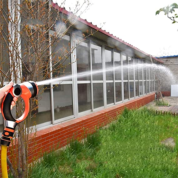 Pistola de agua de metal pistola de múltiples funciones Manguera de la casa a prueba de fugas Car Wash/jardín de riego/ducha de mascotas/ventana rasante ...