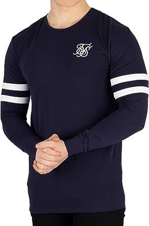 Sik Silk de los Hombres Camiseta de Manga Larga del Torneo, Azul, M: Amazon.es: Ropa y accesorios