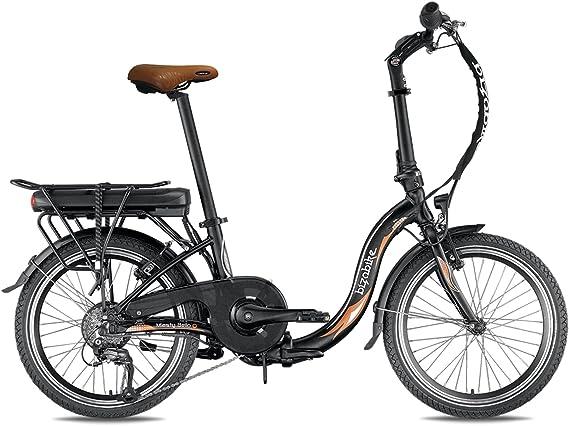 Bicicleta eléctrica plegable miesty Bello negro – batería: Li-ion Panasonic 36 V, 14,5 Ah – Autonomía: 140 Km – Peso: 20,3 kg sobre Amazon: Amazon.es: Deportes y aire libre