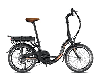 Bicicleta eléctrica plegable miesty Bello negro – batería: Li-ion Panasonic 36 V,