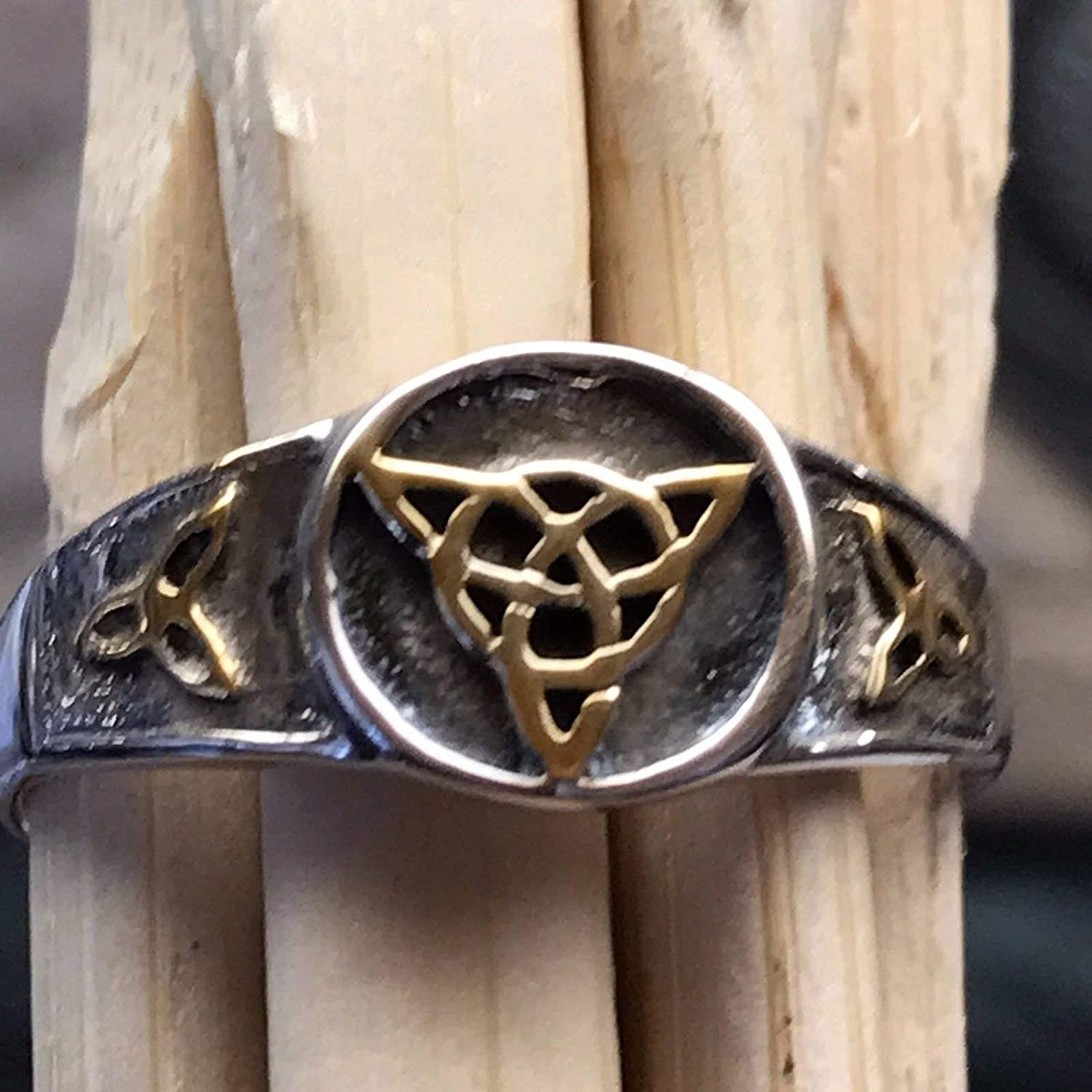 8 Celtic Trinity Knot 925 Solid Sterling Silver Ring Size 6