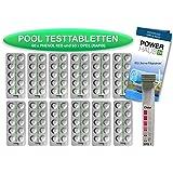 Powerhaus24 – 120comprimés de test - 60 pour test du pH (Phenol Red) et 60pour test du chlore DPD1–Boîte de mesure incluse