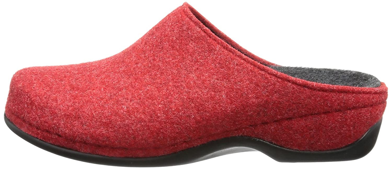 Berkemann Florina - Pantuflas de fieltro mujer, color rojo, talla 36 1/3