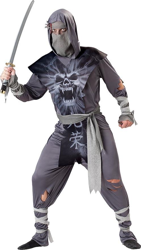 InCharacter Costumes, LLC Zombie Ninja Set, Grey/Black, Large