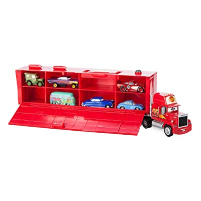 Disney Mack Friction Motor Hauler Truck Plus Six Pullback Cars Set Multi: Toys & Games