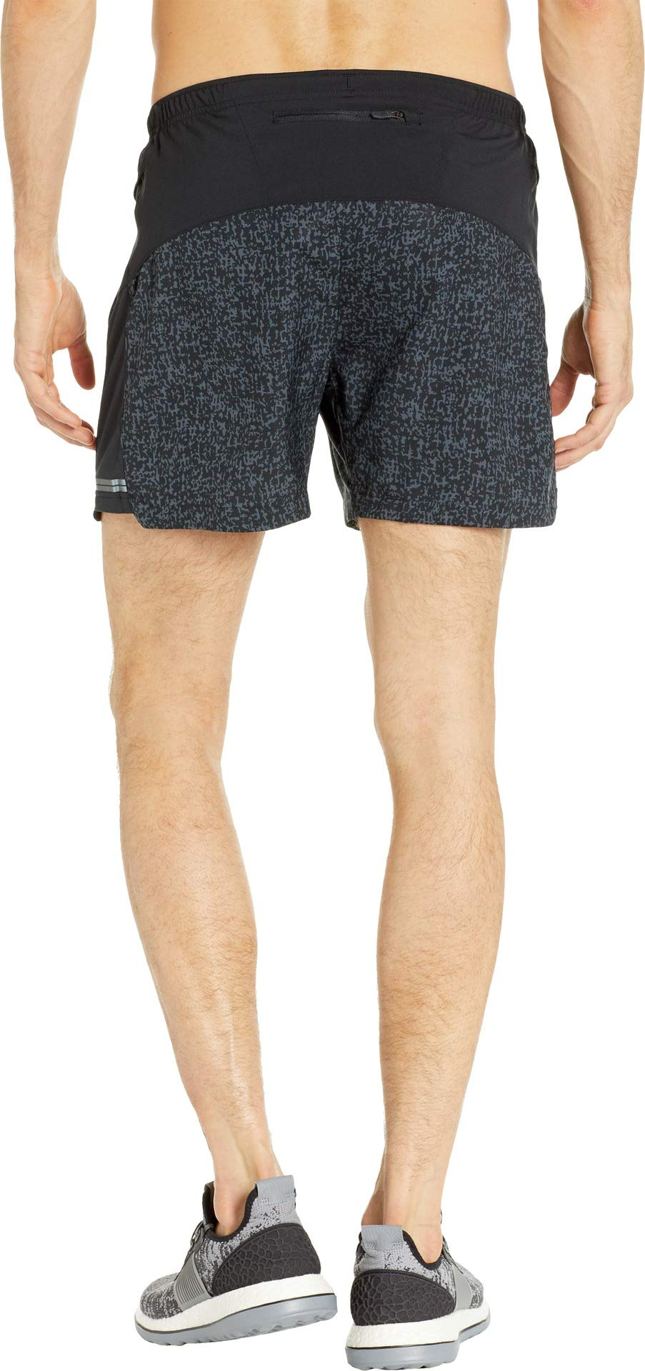 Brooks Men's Sherpa 5'' Shorts Black Static/Black Medium 5 by Brooks (Image #3)